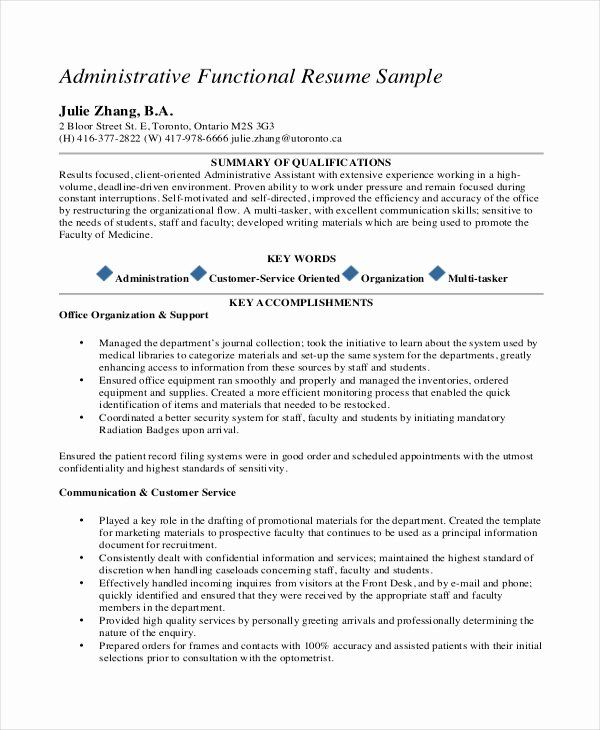 Entry Level Healthcare Administration Resume New 10 Medical Administrative Assistant Resume T Functional Resume Template Resume Template Word Functional Resume