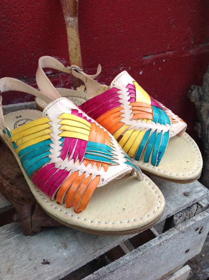 Colorful Mexican huaraches, womens rainbow huaraches, mexican colored leather sandals, genuine leather huaraches