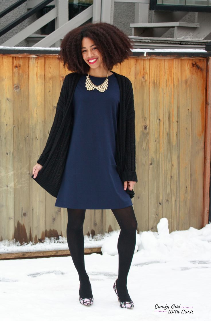 Navy Blue Dress   The Gap Fashion   Work Outfits   Corporate Style   Professional   9 to 5   OOTD   Natural Hair Inspiration   Twist Out