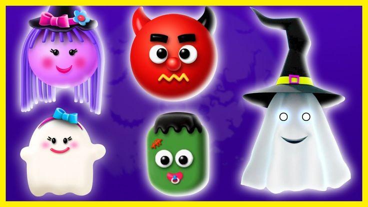 Halloween Finger Family Song | 3D Halloween Video Series Cake Pop Finger Family Songs for kids