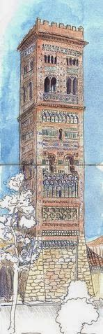 Urban Sketchers Spain. El mundo dibujo a dibujo.: Torres de Aragón
