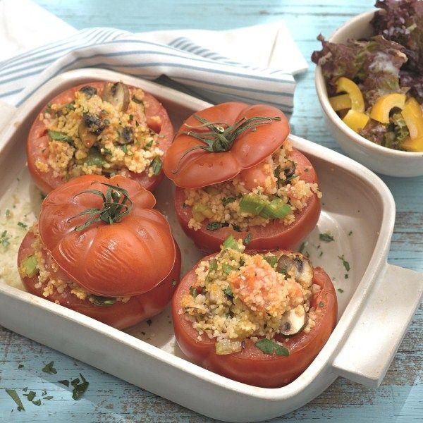 Tomaten met couscousvulling #vega #veggie #WWrecept #WeightWatchers