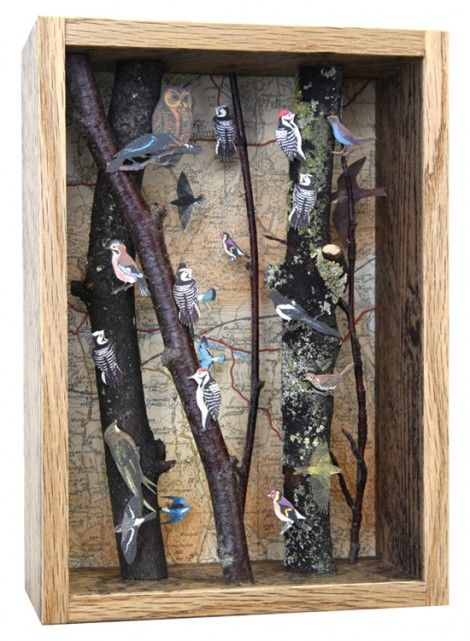 Hurt Wood by John Dilnot Categories: Papercuts John Dilnot's boxes are one-off pieces and start at £360. Boxes are also available as a commissioned piece, using a map area of choice. Prices start at £480. Saw these in Whitstable