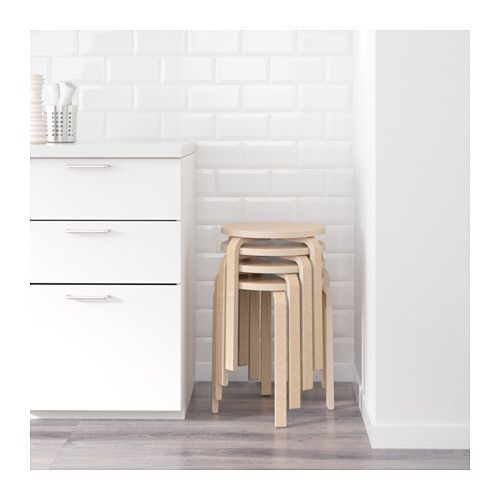 FROSTA Stool IKEA The stool can be stacked, so you can keep several on hand and store them in the same space as one.