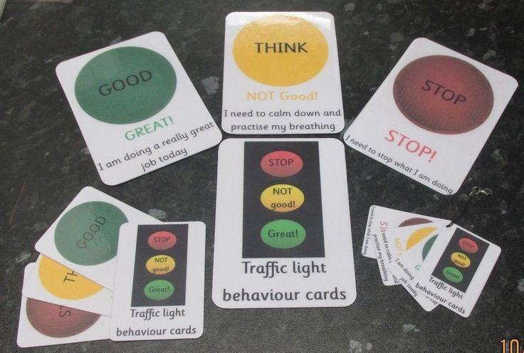 Communication warning flash cards, encourage good behaviour~Autism~SEN~£2.95
