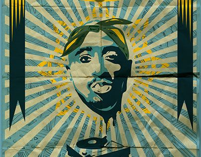 """Check out new work on my @Behance portfolio: """"Tupac"""" http://be.net/gallery/45260175/Tupac"""