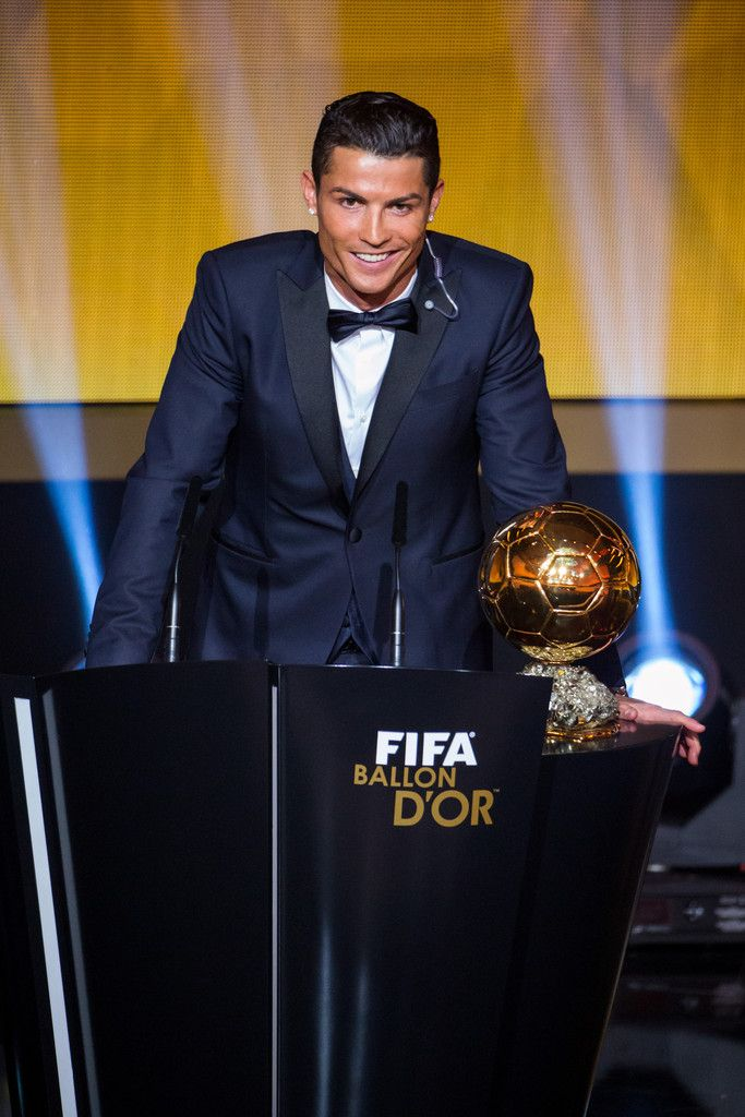 FIFA Ballon d'Or winner Cristiano Ronaldo of Portugal and Real Madrid speaks during the FIFA Ballon d'Or Gala 2014 at the Kongresshaus on January 12, 2015 in Zurich, Switzerland.