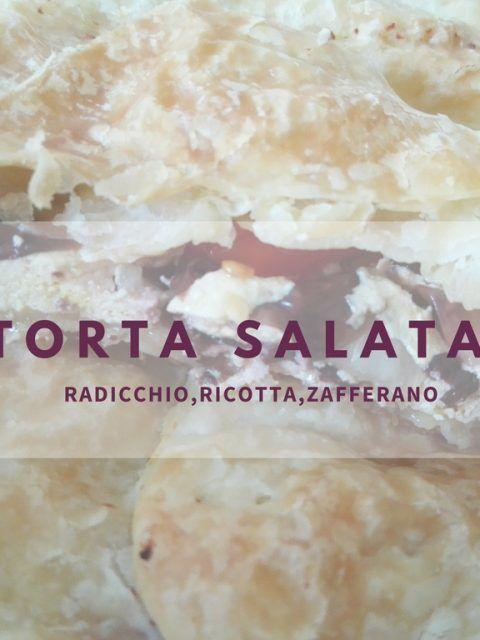 TORTA RADICCHIO,RICOTTA,ZAFFERANO