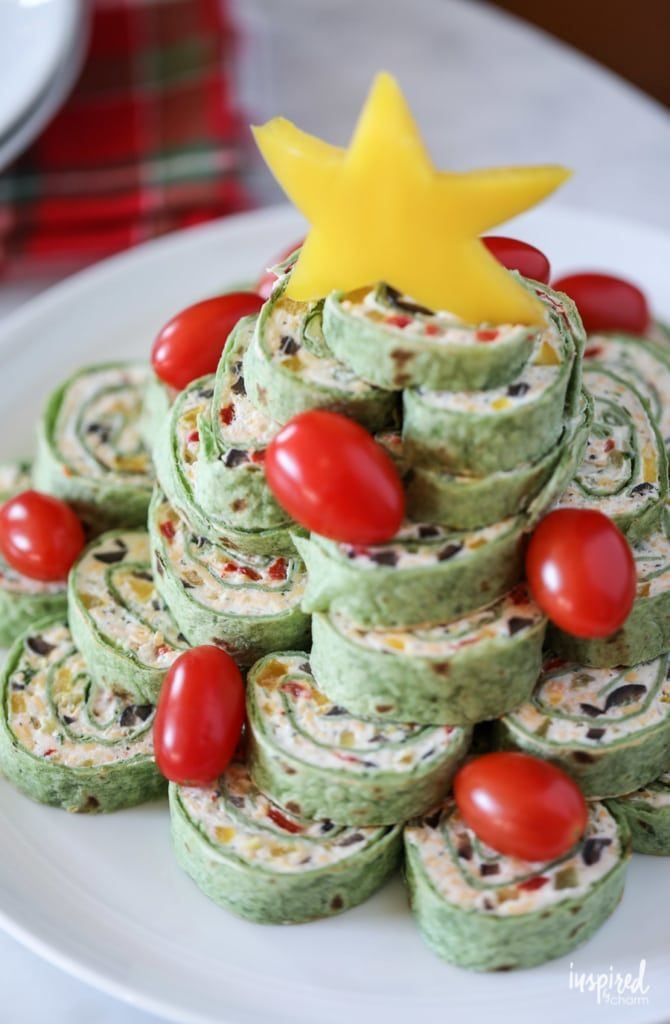 Christmas Tortilla Roll Ups Appetizer In 2020 Christmas Recipes Appetizers Appetizer Recipes Tortilla Rolls