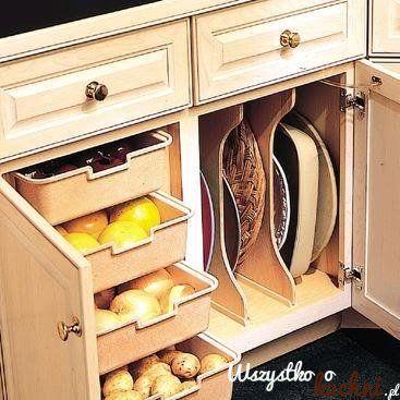 Pomysłowe szuflady na warzywa