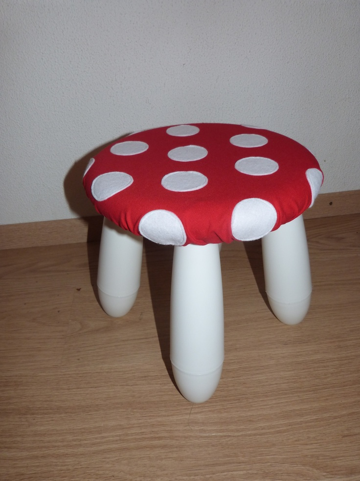 Ikea kruk wordt paddenstoel kruk.
