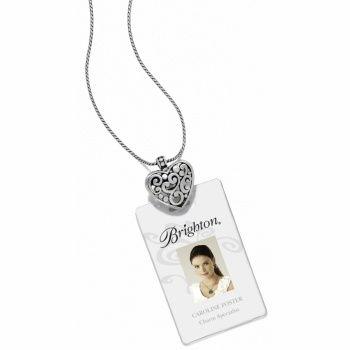 Contempo heart badge clip necklace brighton pinterest for Brighton badge holder jewelry