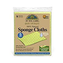 IF YOU CARE 100% Natural Sponge Cloths, 5 Count
