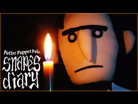 Potter Puppet Pals: Snape's Diary ..(i laugh EVERY TIME i watch this.. especially when snape talks about losing a button. lol --HD)