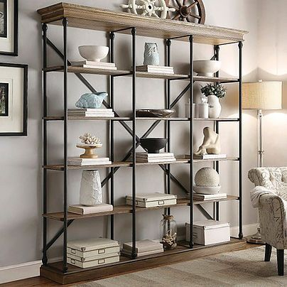 Affordable Ways to Fill a Large Blank Wall | Interior Design in Jersey City - Expand shelf options and do a long and narrow bookcase!