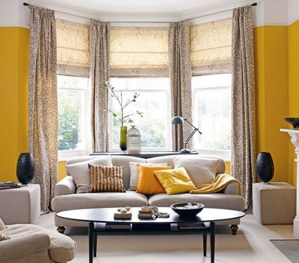 Black Yellow Beige Curtains Furniture Accents Walls