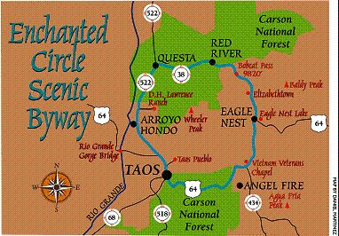 taos new mexico attractions | Mexico và Taos Enchanted Circle. (Maps courtesy of New Mexico Tourism ...