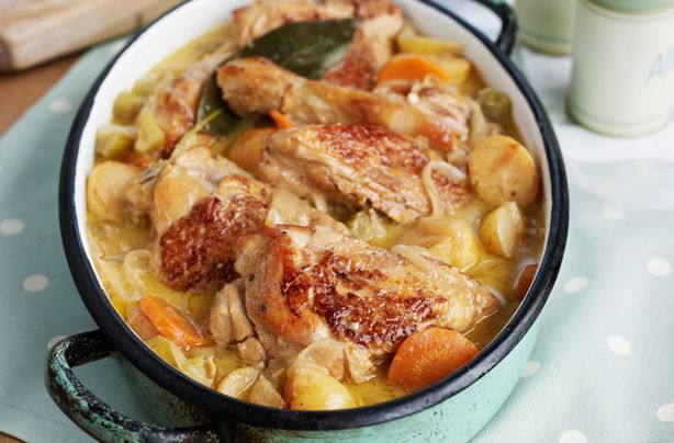 This chicken casserole recipe is a hearty, family-sized meal perfect for making in the winter months