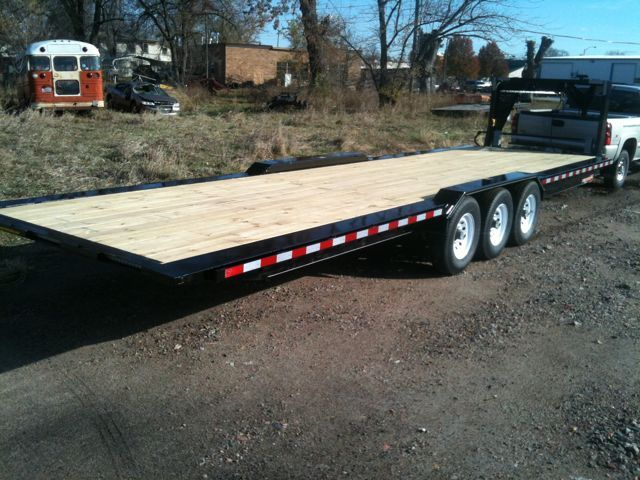 8.5'x30' gooseneck flatbed trailer for tiny house