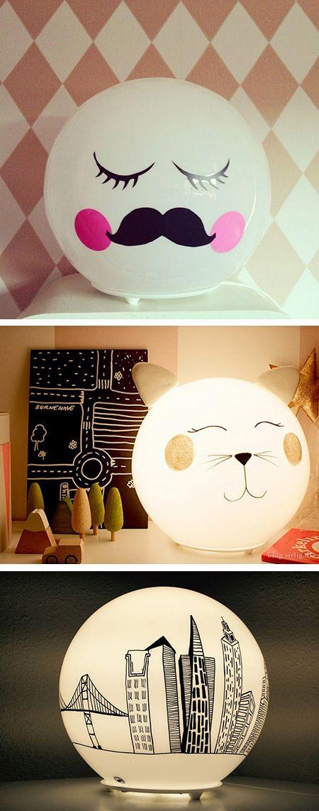 """Customiser la lampe boule """"Fado"""" d'Ikea - Momes.net"""
