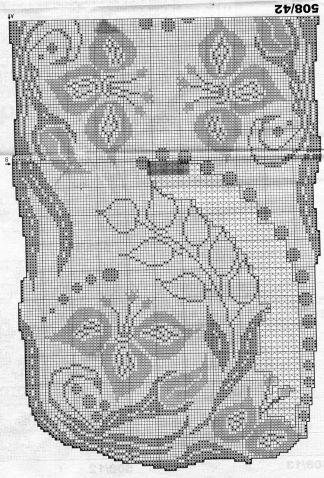 Филейное вязание. Шторы. Схемы / Вязание крючком / Женская одежда крючком…