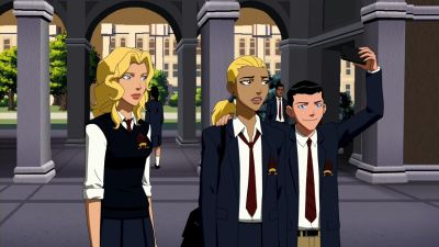 Image - Artemis meets Bette and Dick.png - Young Justice Wiki: The ...