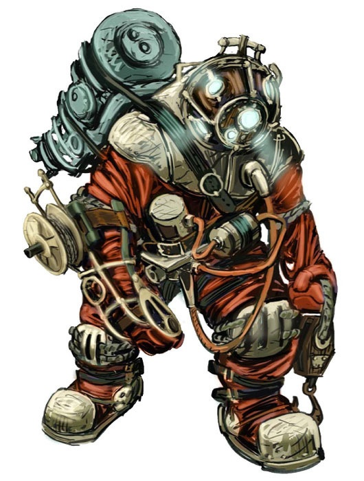 Bioshock ~ The SlowPro: A Big Daddy model that ...