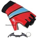 Harley Quinn GLOVES Biker Suicide Squad Costume Glove with Batman Keyring