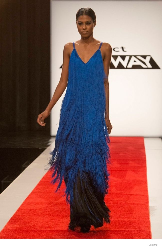 One day I am gonna sit down with a basic floor length gown, 50 spools of fringe, and 20 hours to kill, and I am gonna make some form of this GORGEOUS thing!!! Project Runway Season 13, Episode 5