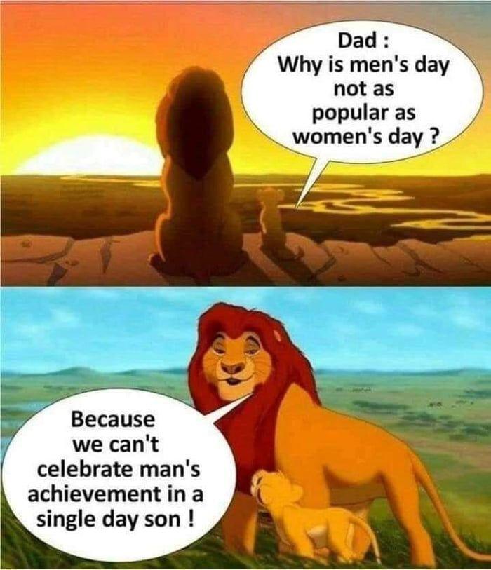International Men Sarcastic Images International Men S Day Manly Man Meme