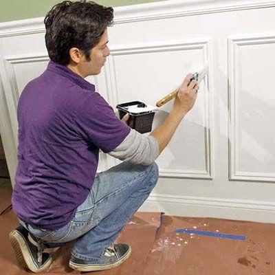 Install wall frames trim molding.  NICE!