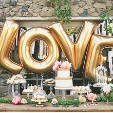 """16 """"Goud Zilver LIEFDE Helium Folie Ballons Brief Ballon Bruiloft valentijnsdag Decoratie Vakantie Decoraties(China (Mainland))"""
