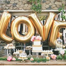 "16"" Gold Silver LOVE Helium Foil Ballons Letter Baloon Wedding Party Valentine's day Decoration Holiday Decorations(China (Mainland))"