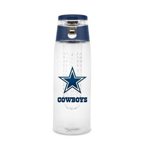 Dallas Cowboys 20 Oz Plastic Infuser Sport Bottle