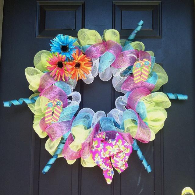 New summer wreath I made!!