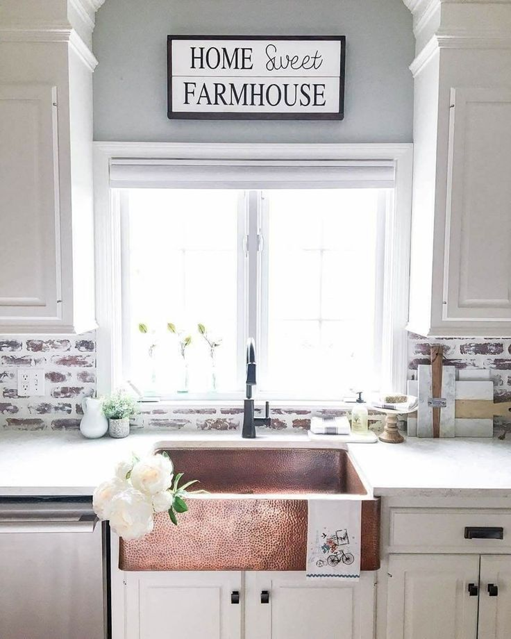 Charming Rustic Kitchen Ideas And Inspirations: 15 Awesome Farmhouse Kitchen Sink Ideas For Charming And