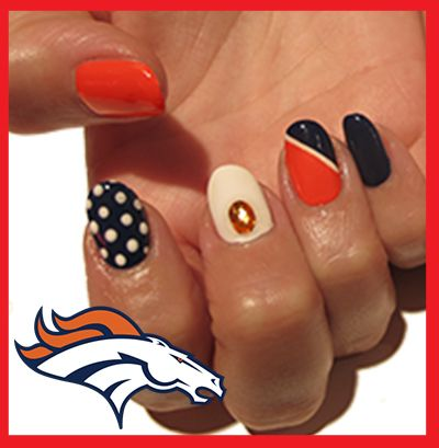 Denver Broncos Football Inspired Nail Art! For a step by step tutorial on  how to - 60 Best Denver Broncos Nails Images On Pinterest Denver Broncos