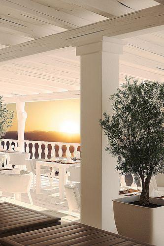 Cotton Beach Club, Ibiza sunset restaurant.