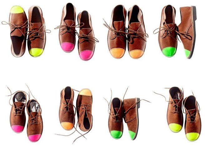 softshoe pop: Style, Coloured Toes, Diy Inspiration, Schier Vellies Shoes, Shoes Www Schiershoes C, Neon Toes, Neon Shoes, Http Www Schiershoes Com, Schier Shoes