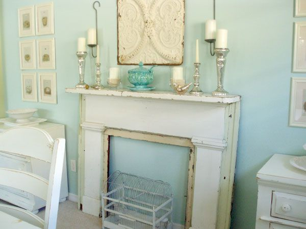 architectural salvage fireplace upcycle.