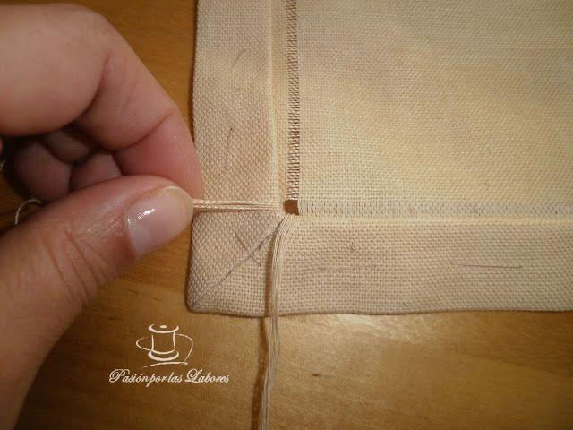Pasión por las Labores: Sacar hilos de la tela con esquinas para hacer vainica
