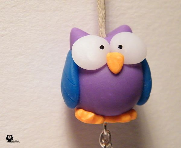 FIMO Polymer Clay Owl Eule