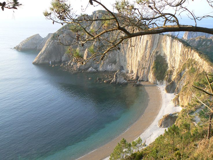 Playa del Silencio in Asturias region of Spain. Land of witches, warlocks, secret potions, homemade liquers and chaming people
