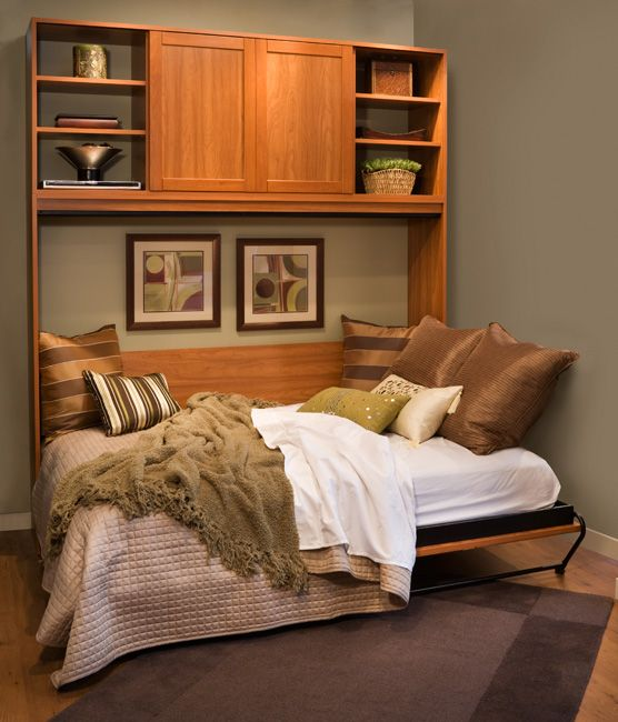 Daybed style murphy bed for extra bedroom this site sells the hardware new house ideas - Pinterest murphy bed ...