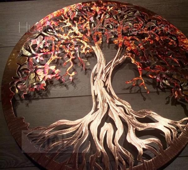 Tree Of Life Pure Copper With Images Metal Tree Wall Art