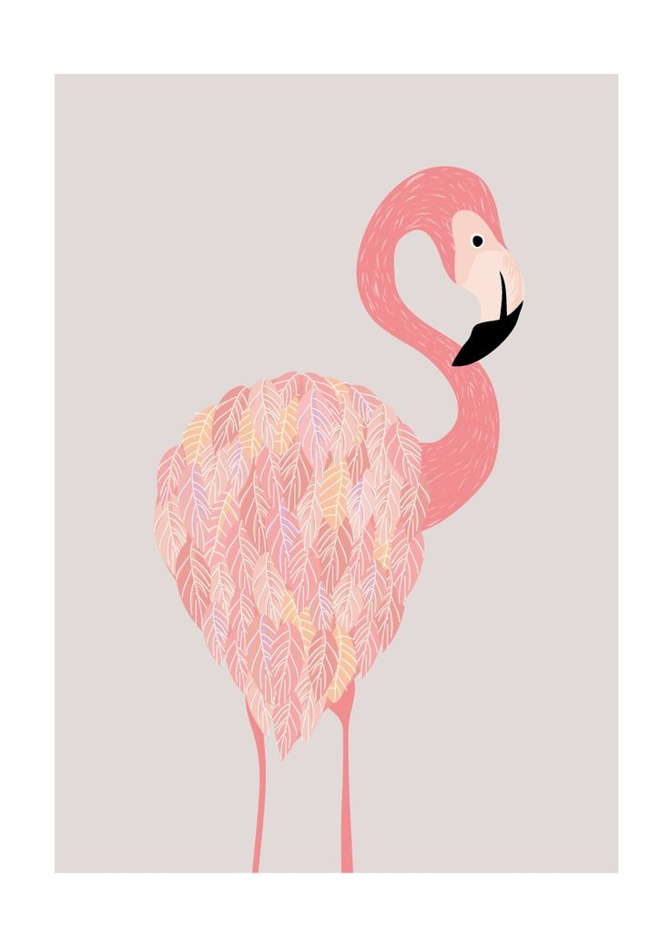 Pretty flamingo art print. Affordable art and posters at www.hardtofind.com.au