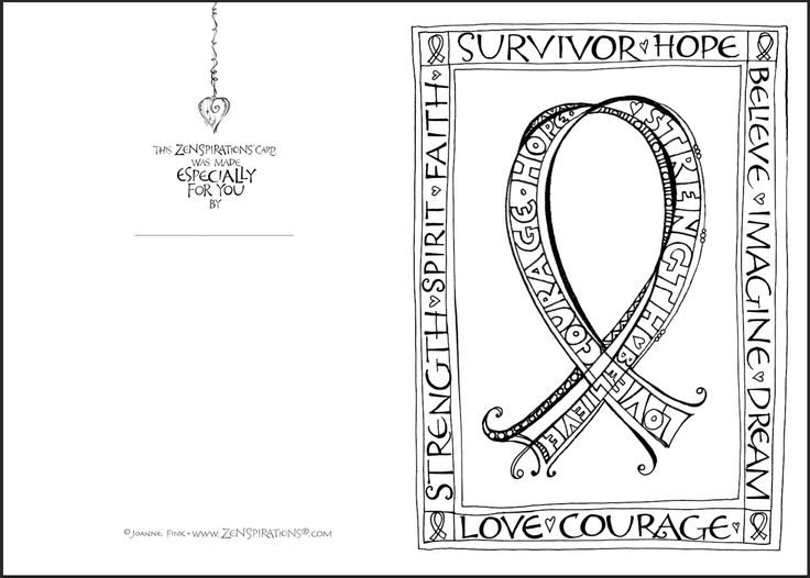 FREE Zenspirations PINK RIBBON Designs To Color On This Weeks