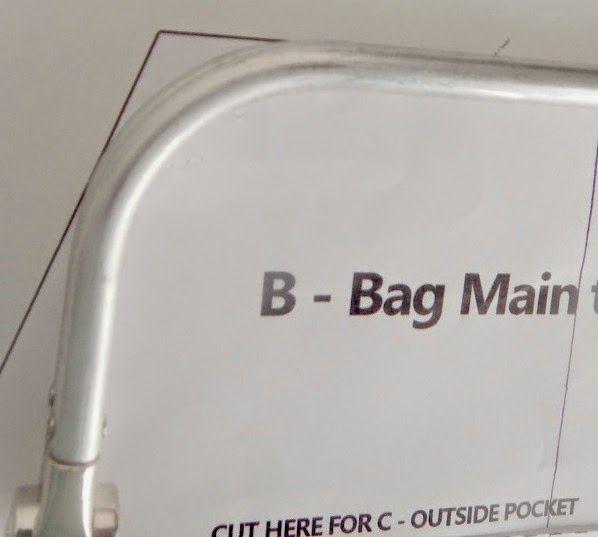 Mrs H - the blog: Adjusting the Companion Carpet bag to fit the frame