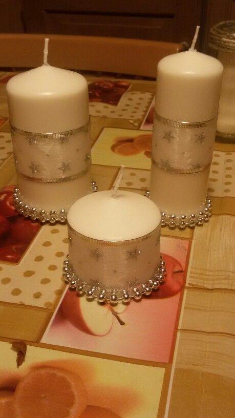 Candele eleganti oro bianco