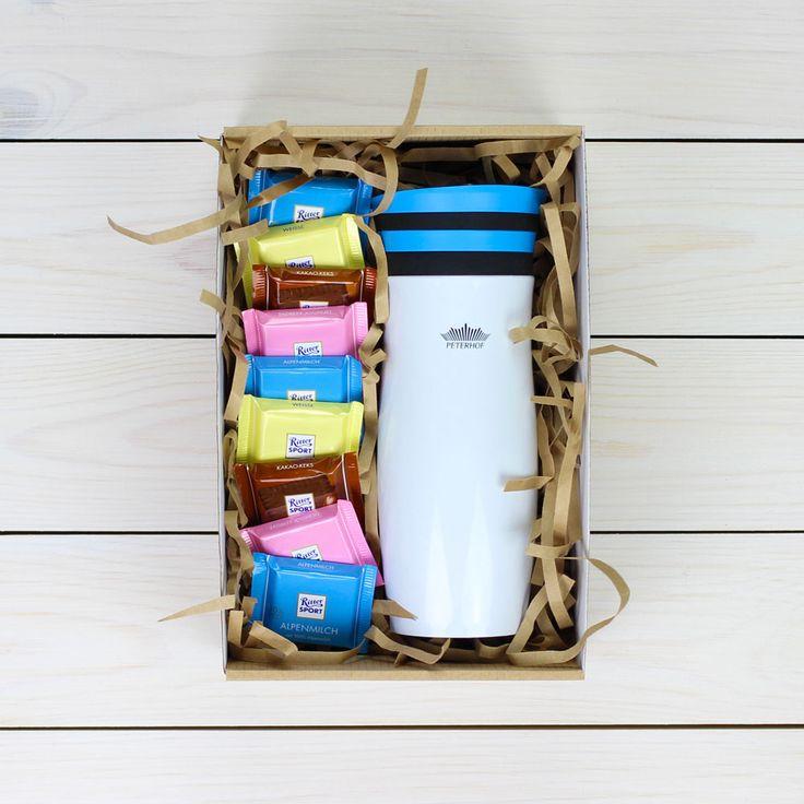 Подарочный набор с шоколадом и термокружкой